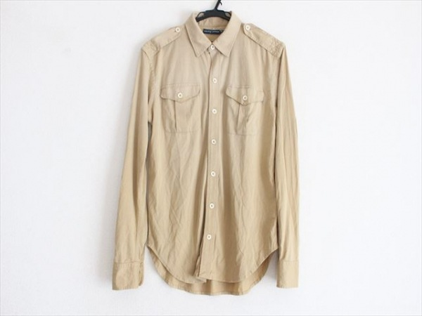 RalphLauren(ラルフローレン) 長袖シャツ サイズS メンズ美品  ベージュ