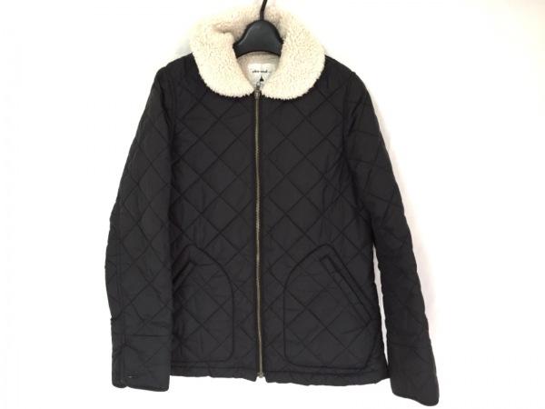 ニコアンド ダウンジャケット サイズ3 L レディース美品  黒×アイボリー 冬物