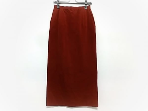 HIROKO BIS(ヒロコビス) ロングスカート サイズ9 M レディース ブラウン コーデュロイ
