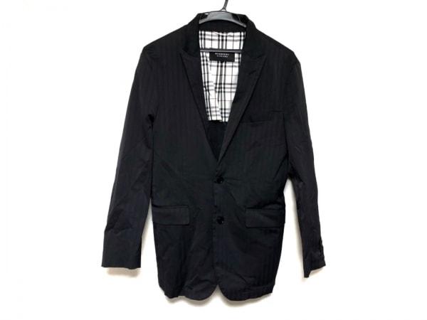 バーバリーブラックレーベル ジャケット サイズS メンズ美品  黒 ストライプ