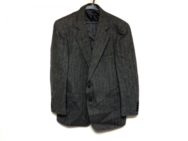 チャップスラルフローレン ジャケット メンズ グレー×黒 ネーム刺繍