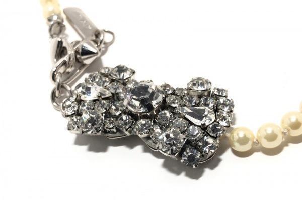 rada(ラダ) ネックレス フェイクパール×金属素材×ラインストーン リボン