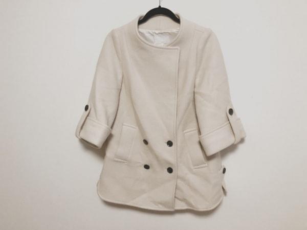 aquagirl(アクアガール) コート サイズ36 S レディース美品  アイボリー 冬物
