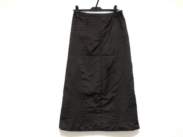 HaaT HeaRT(ハート) ロングスカート サイズ2 M レディース美品  ダークブラウン 刺繍