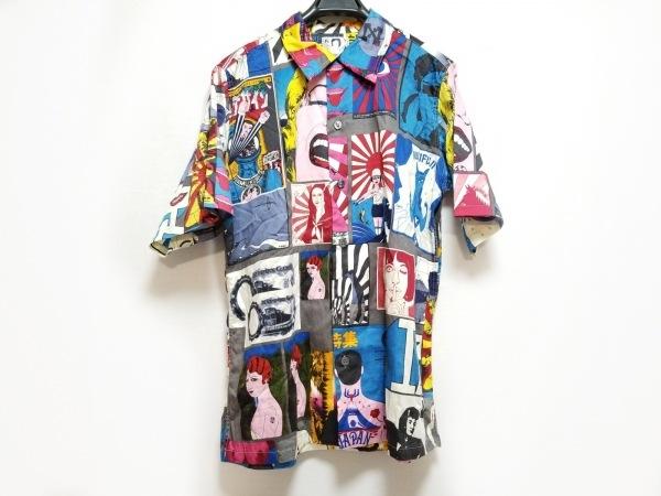 Bohemians(ボヘミアンズ) 半袖シャツ サイズ2 M メンズ ネイビー×ピンク×マルチ