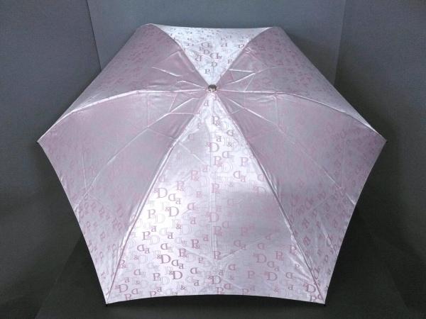 Pinky&Dianne(ピンキー&ダイアン) 折りたたみ傘美品  ピンク 化学繊維