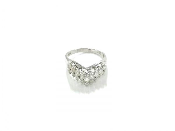 ノーブランド リング美品  Pt900×ダイヤモンド クリア 総重量:4.3g/0.50刻印