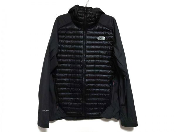 ノースフェイス ダウンジャケット サイズL メンズ 黒 SUMMIT SERIES/冬物