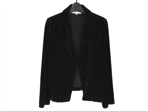 ヴァンドゥ オクトーブル ジャケット サイズ40 M レディース美品  黒 ベロア