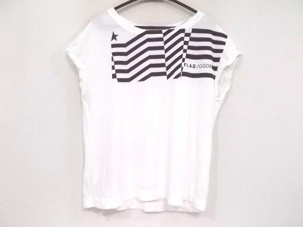 GOLDEN GOOSE(ゴールデングース) Tシャツ サイズS レディース 白×黒