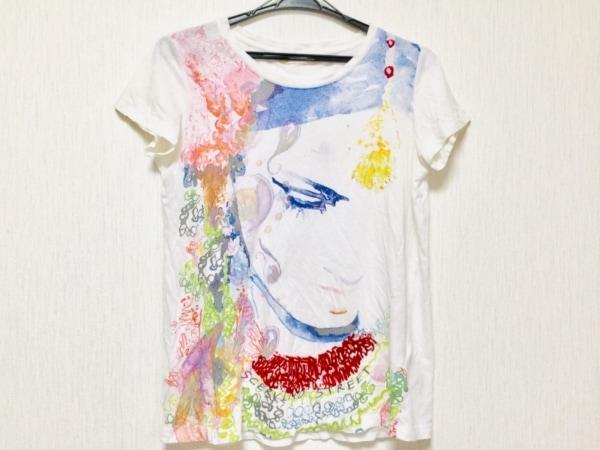シェルビーノストリート 半袖Tシャツ サイズS レディース 白×マルチ