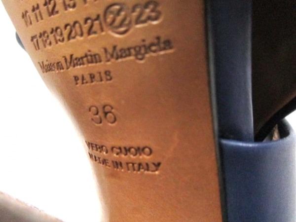 マルタンマルジェラ サンダル 36 レディース ネイビー アウトソール張替済 レザー