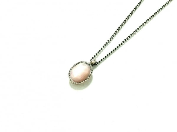 4℃(ヨンドシー) ネックレス シルバー×カラーストーン ピンク