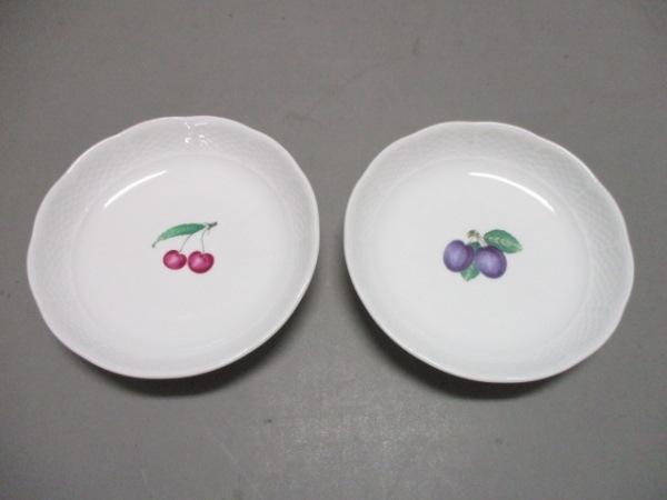 リチャードジノリ プレート新品同様  白×ライトグリーン×マルチ プレート×2 陶器