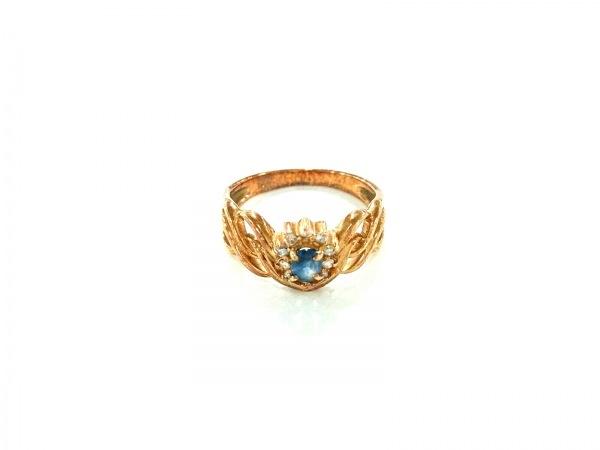 ノーブランド リング美品  K18×カラーストーン×ダイヤモンド ブルー×クリア