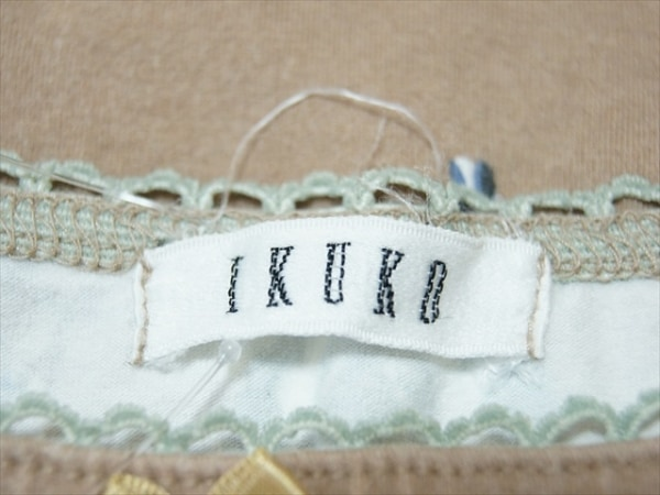 IKUKO(イクコ) ワンピース サイズM レディース美品  ブラウン×ブルー×マルチ 花柄