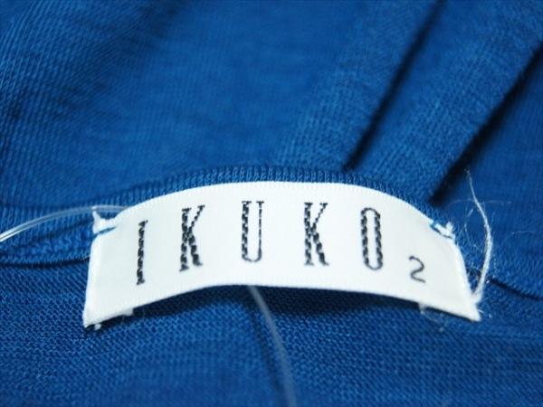 IKUKO(イクコ) ワンピース サイズ2 M レディース美品  ネイビー フラワー