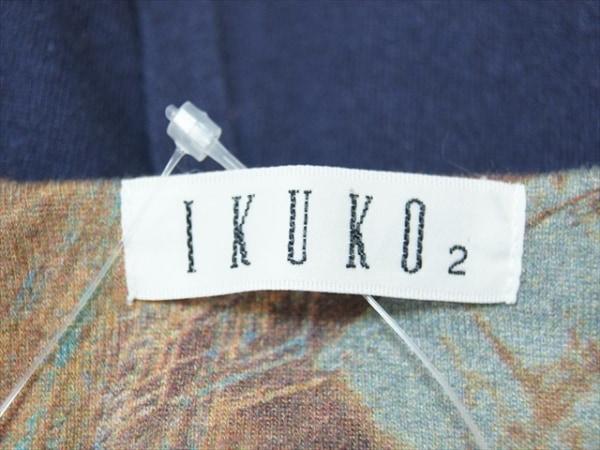IKUKO(イクコ) ワンピース サイズ2 M レディース ダークネイビー×ブラウン×マルチ
