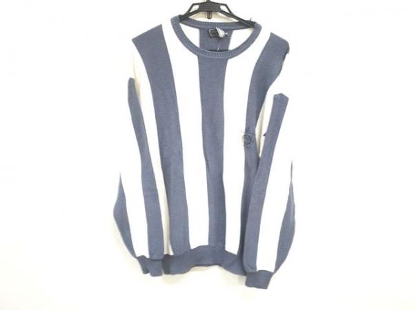 クリスチャンディオールムッシュ 長袖セーター サイズL メンズ 白×グレー
