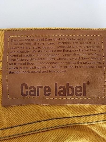 CARE LABEL(ケア レーベル) パンツ サイズ30 メンズ イエロー SLACK352