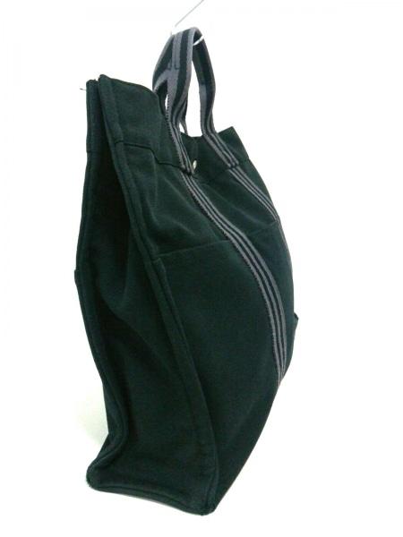 エルメス トートバッグ フールトゥトートMM 黒×グレー キャンバス 2
