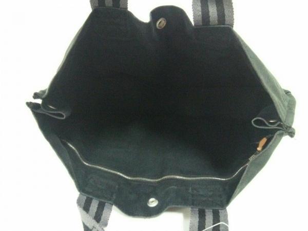 エルメス トートバッグ フールトゥトートMM 黒×グレー キャンバス 5