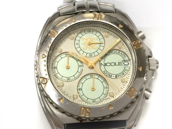 NICOLE(ニコル) 腕時計 NC-2520 メンズ クロノグラフ アイボリー