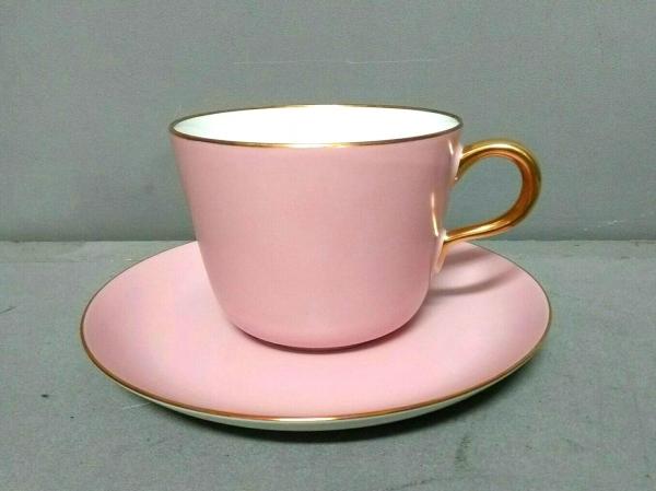 オオクラチャイナ カップ&ソーサー新品同様  ピンク×ゴールド 陶器
