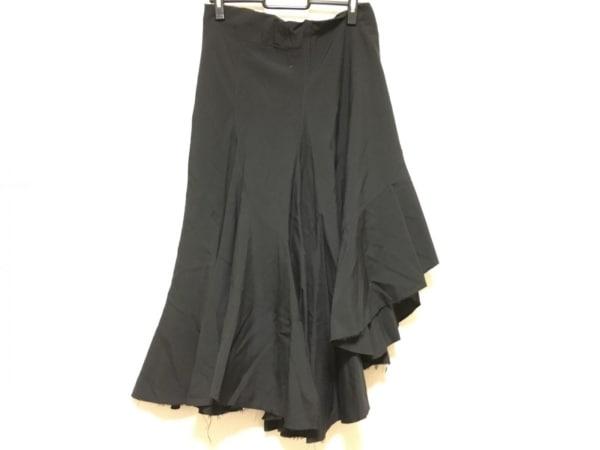 コムデギャルソンジュンヤワタナベ スカート サイズS レディース 黒 切りっぱなし加工