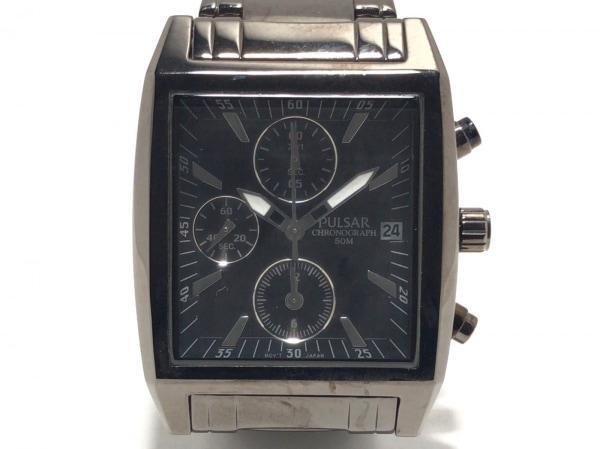 PULSAR(パルサー) 腕時計美品  YM92-X082 メンズ クロノグラフ 黒