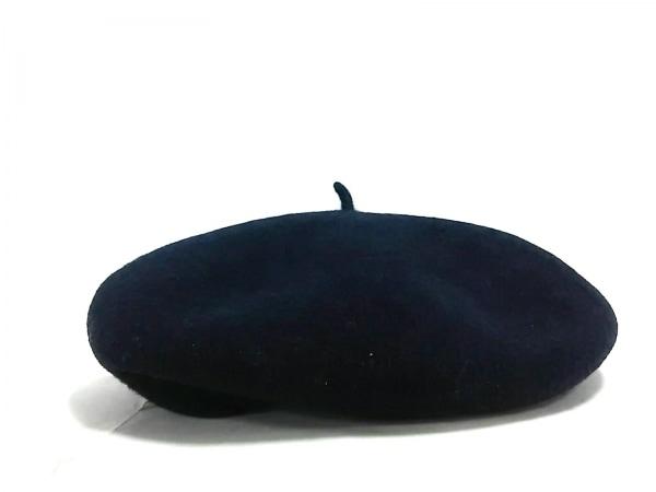 override(オーバーライド) 帽子 57.5美品  ネイビー ウール