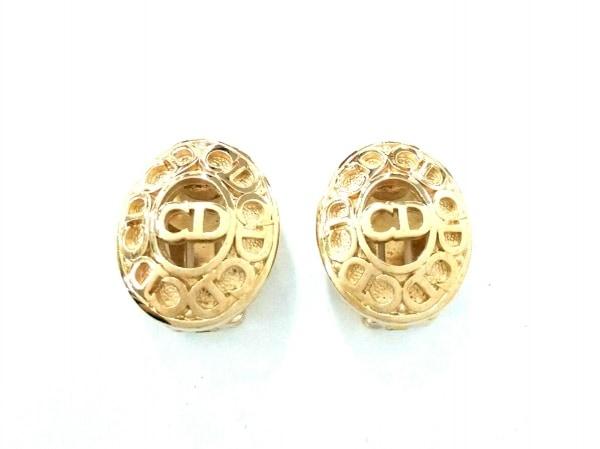 ChristianDior(クリスチャンディオール) イヤリング美品  金属素材 ゴールド