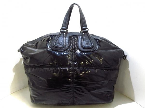 GIVENCHY(ジバンシー) ボストンバッグ ナイチンゲール 黒 化学繊維×レザー