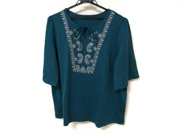 Leilian(レリアン) 半袖カットソー レディース美品  グリーン 刺繍/スパンコール