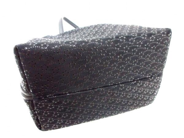 印傳屋(インデンヤ) ハンドバッグ 黒 レザー