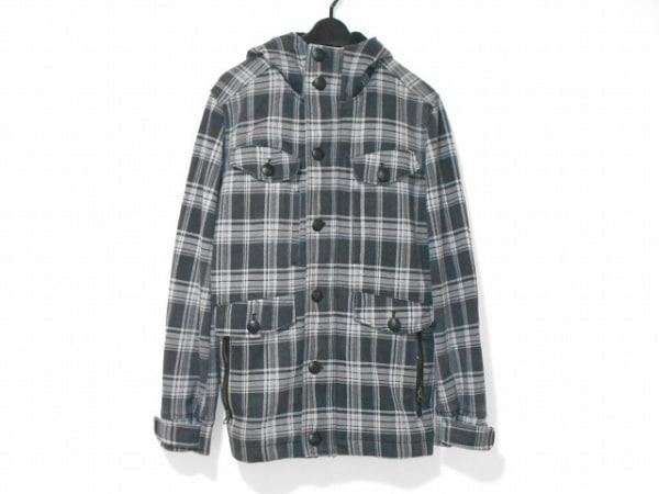 LOUIS CHAVLON(ルイスシャブロン) コート サイズL メンズ 黒×グレー チェック柄/冬物