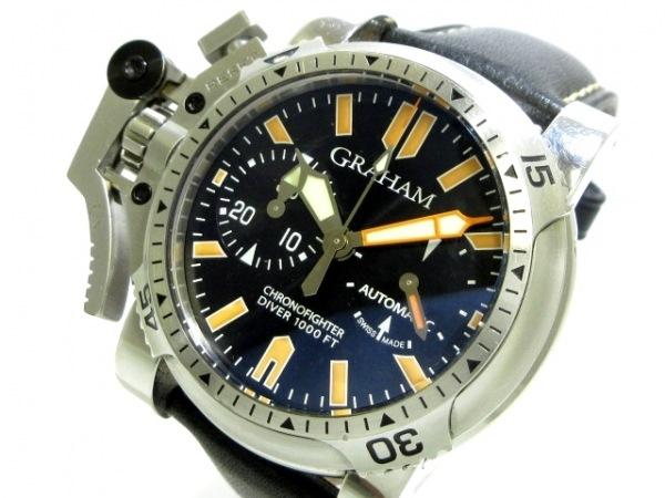 グラハム 腕時計 クロノファイター オーバーサイズ ダイバー 20VDIVAS.B02A.K10B 黒