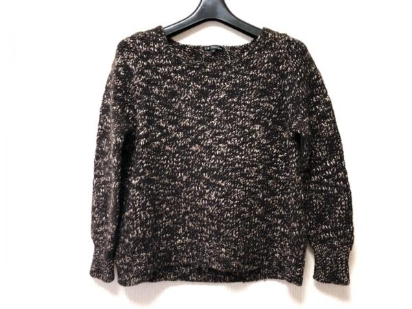 23区(ニジュウサンク) 長袖セーター サイズ38 M レディース ダークブラウン×ベージュ