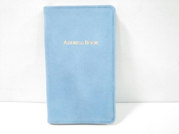 ティファニー 手帳美品  ライトブルー アドレスブック ヌバック×ペーパー