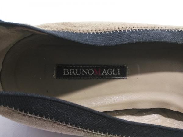 BRUNOMAGLI(ブルーノマリ) フラットシューズ 37  レディース ブラウン×黒 スエード