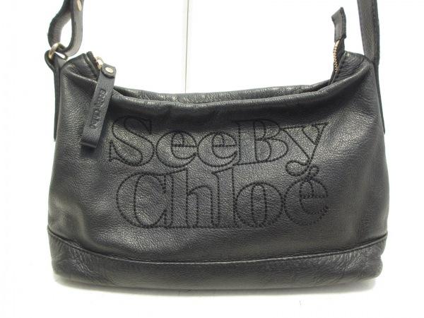 SEE BY CHLOE(シーバイクロエ) ショルダーバッグ - 黒 レザー