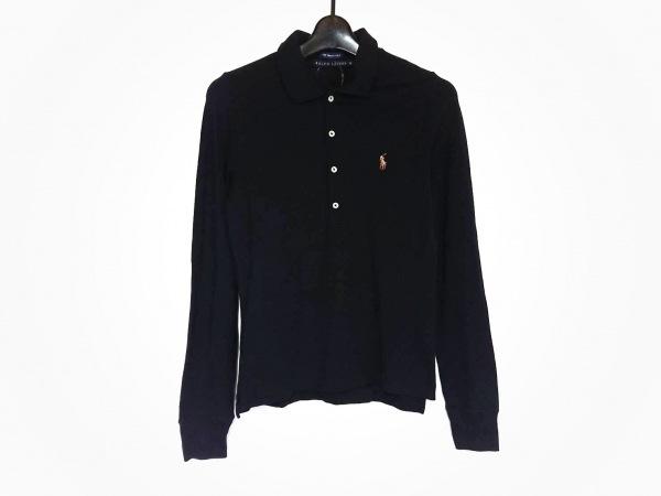 RalphLauren(ラルフローレン) 長袖ポロシャツ サイズM レディース美品  ネイビー