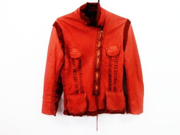 ロベルトカヴァリ ブルゾン サイズS レディース美品  ピンク レザー/冬物