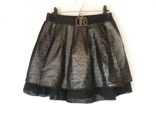 JOHN RICHMOND(ジョンリッチモンド) ミニスカート サイズ38 M レディース美品  黒