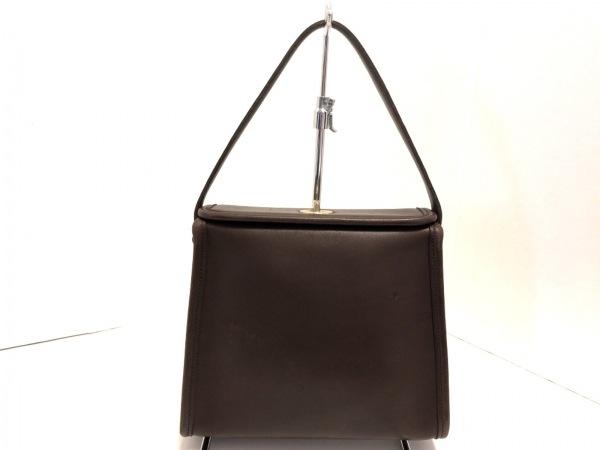 COACH(コーチ) ハンドバッグ美品  - 9043 ダークブラウン レザー