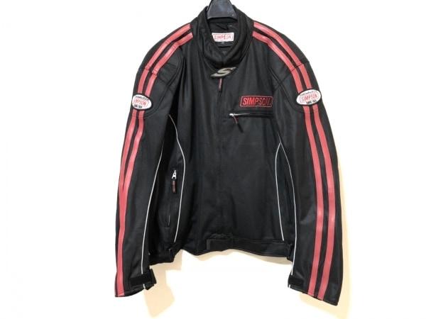 simpson(シンプソン) ライダースジャケット サイズLW メンズ 黒×レッド