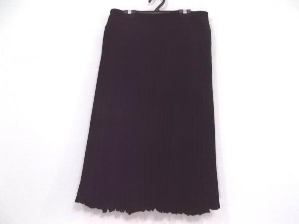 レキップ ヨシエイナバ スカート サイズ40 M レディース新品同様  黒 プリーツ