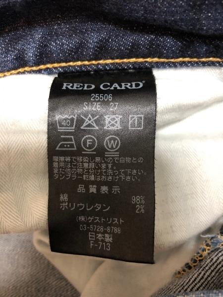 RED CARD(レッドカード) ジーンズ サイズ27 M レディース ネイビー Anniversary 25th