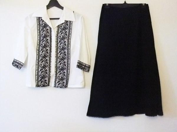 Leilian(レリアン) スカートセットアップ サイズ9 M レディース美品  白×黒