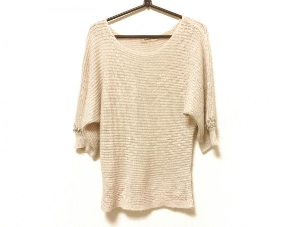 アプワイザーリッシェ 半袖セーター サイズ2 M レディース ベージュ ビジュー